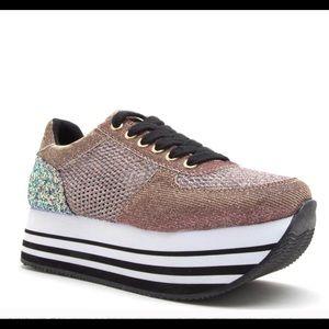 Platform Pink/ Gold Women's Sneaker